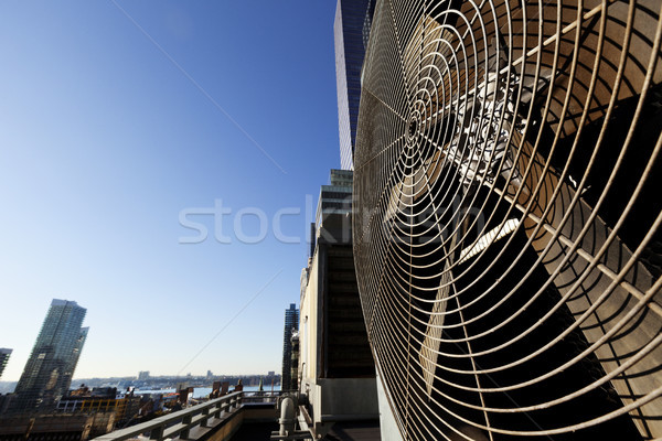 Urban HVAC Air Contidioner Outdoor Unit Manhattan New-York Stock photo © eldadcarin