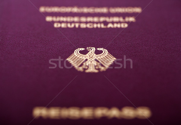 Paszport makro shot płytki papieru tle Zdjęcia stock © eldadcarin