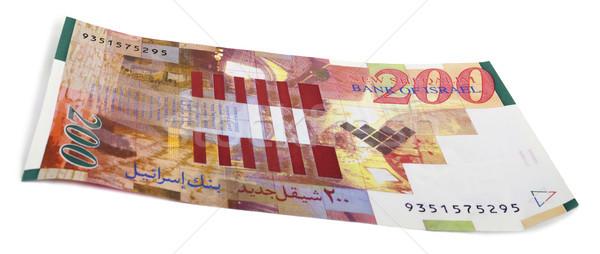 Isolado israelense projeto de lei banco nota branco Foto stock © eldadcarin
