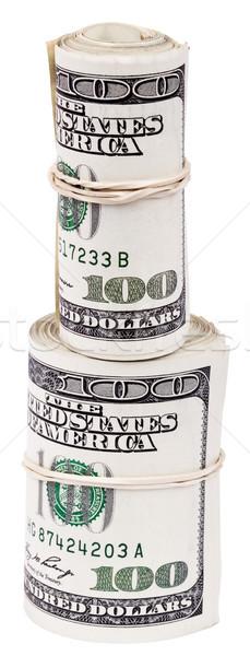 Rulo 100 amerikan dolar para Stok fotoğraf © eldadcarin