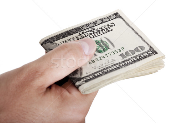 Giving Out Cash - Folded Stock photo © eldadcarin