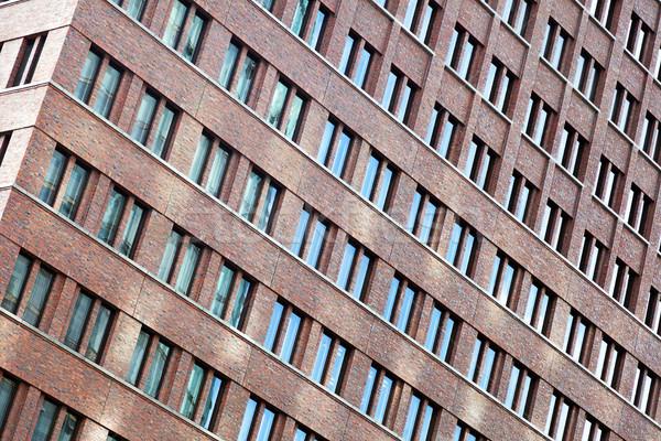 Tilted Building Windows Pattern Stock photo © eldadcarin