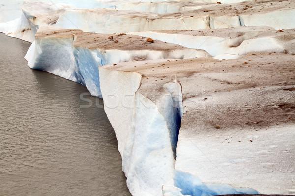 Dirty Glacier & Lake Stock photo © eldadcarin