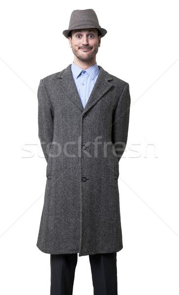Verrassing mannelijke matching hoed Stockfoto © eldadcarin