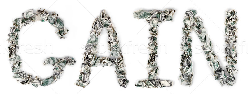 Gain - Crimped 100$ Bills Stock photo © eldadcarin