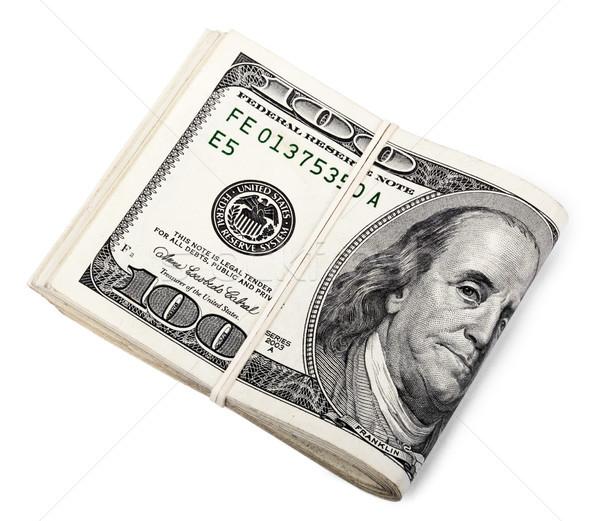 Dobrado 100 monte americano dólares Foto stock © eldadcarin