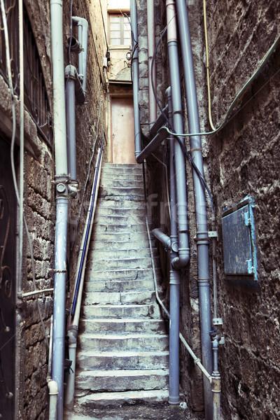 Back Door Alley & Steps Stock photo © eldadcarin