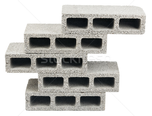 Isolated Construction Blocks - Five Stock photo © eldadcarin