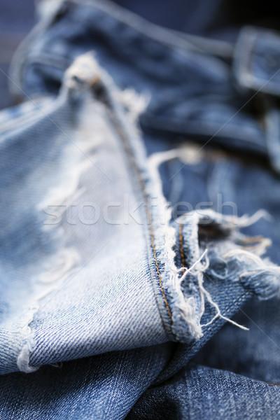 ジーンズ ズボン 抽象的な 背景 青 ストックフォト © eldadcarin