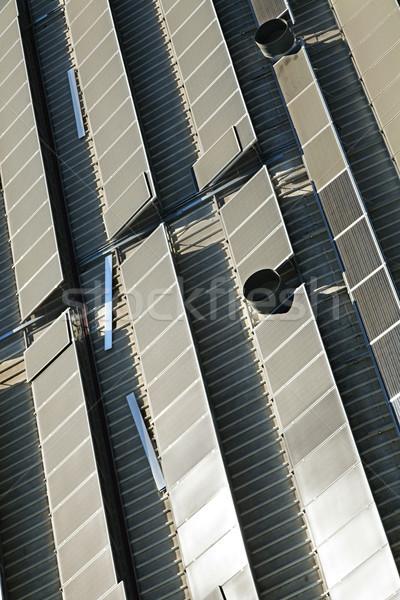 Rooftop Solar Panels Stock photo © eldadcarin