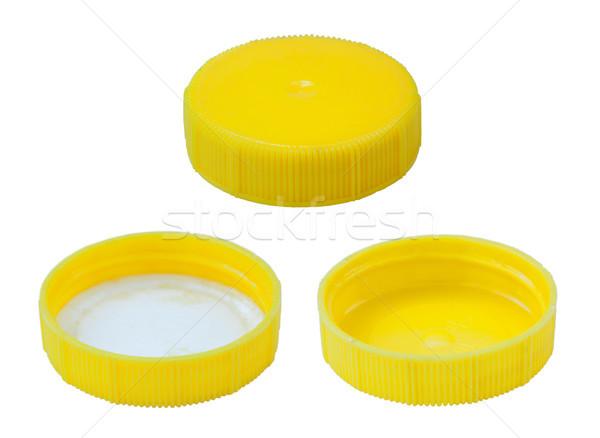 Isolated Yellow Plastic Cap Stock photo © eldadcarin