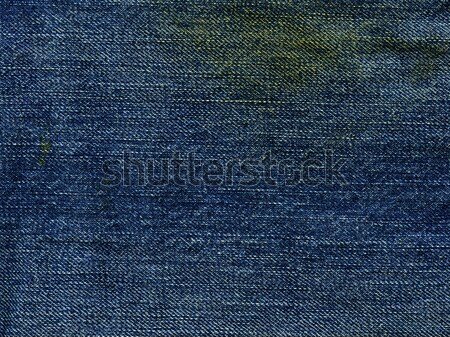 Stock photo: Denim Fabric Texture - Stained