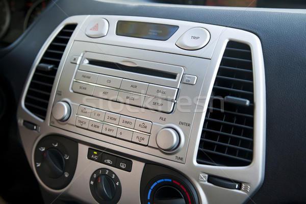Car Stereo & Air Conditioning Controls Stock photo © eldadcarin