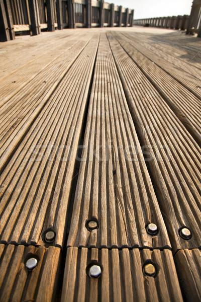 Deck Weg Holz Sonnenlicht Holz Stock foto © eldadcarin