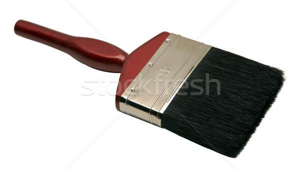 Isolé pinceau rouge pinceau blanche fond blanc Photo stock © eldadcarin