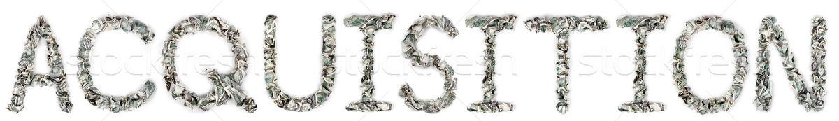 Acquisition - Crimped 100$ Bills Stock photo © eldadcarin