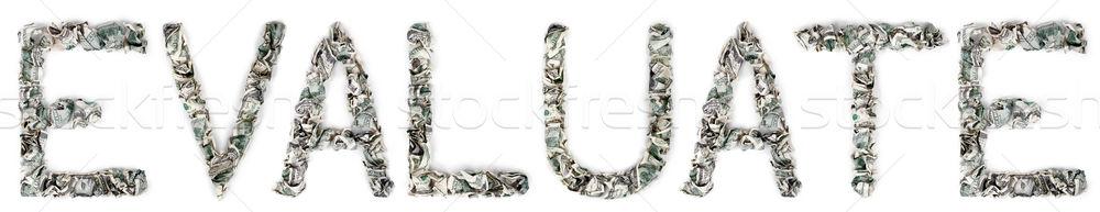 Evaluate - Crimped 100$ Bills Stock photo © eldadcarin