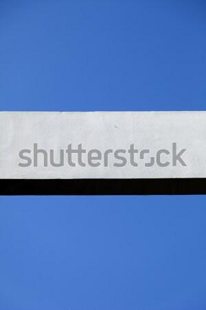 Concrete Beam & Clear Blue Sky Stock photo © eldadcarin