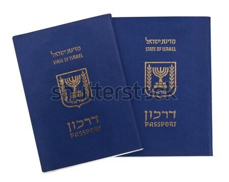 Isolated American Passports Stock photo © eldadcarin