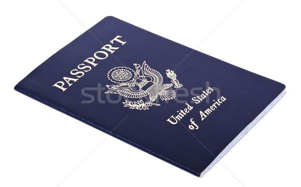 孤立した アメリカン パスポート 米国 白 古い ストックフォト © eldadcarin