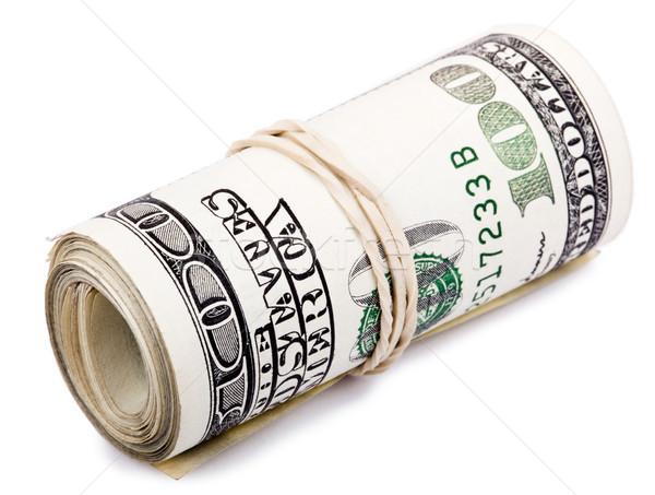 Rulo 100 amerikan dolar Stok fotoğraf © eldadcarin