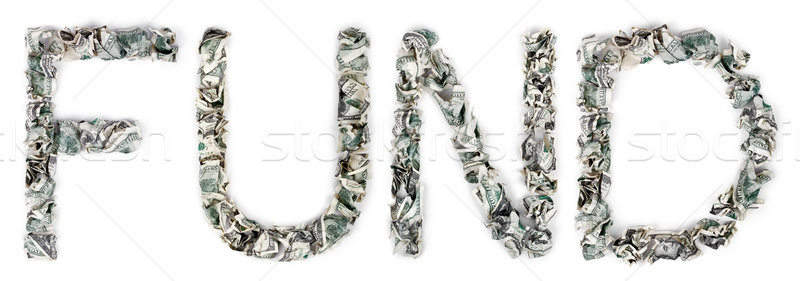 Fund - Crimped 100$ Bills Stock photo © eldadcarin