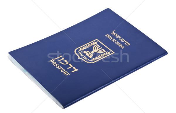 Isolé passeport blanche papier imprimer Photo stock © eldadcarin