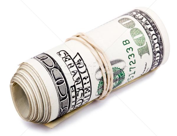 Rolar 100 monte americano dólares Foto stock © eldadcarin