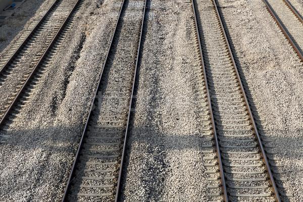 Spoorweg snelweg vier Stockfoto © eldadcarin