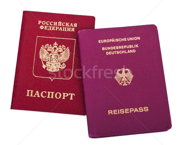 Double Nationality - Russian & German Stock photo © eldadcarin