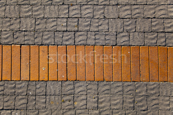 Grijs Rood tegels vloer textuur bakstenen Stockfoto © eldadcarin