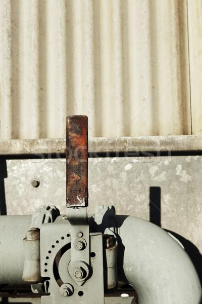 Víz cső emelő szint fém csövek Stock fotó © eldadcarin