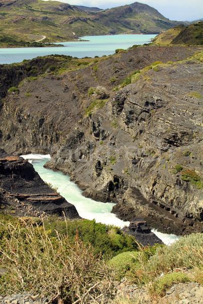 Torrente fiume piccolo ampia shot Foto d'archivio © eldadcarin