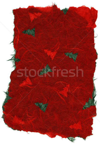 Isolated Rice Paper Texture - Christmas Red XXXXL Stock photo © eldadcarin