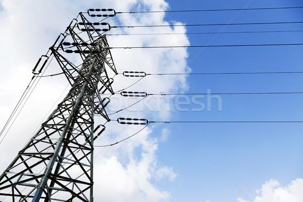 Elektriciteit shot Blauw witte Stockfoto © eldadcarin