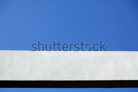 Concreto viga blue sky branco quadro textura Foto stock © eldadcarin