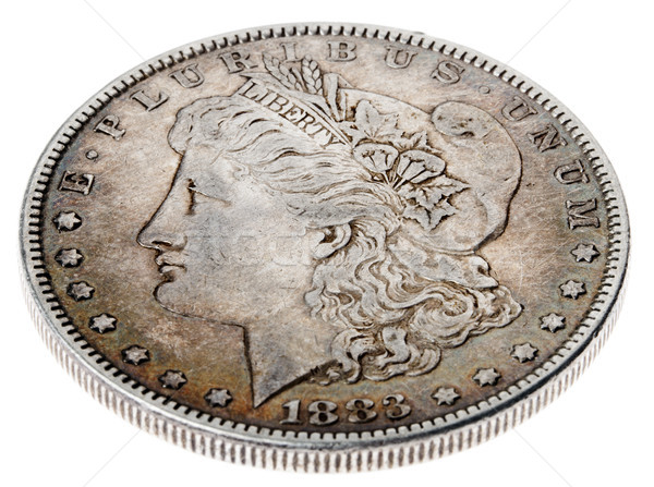 Morgan Dollar - Heads High Angle Stock photo © eldadcarin