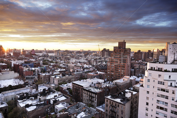 Winter Dusk at West Village Manhattan New-York Stock photo © eldadcarin