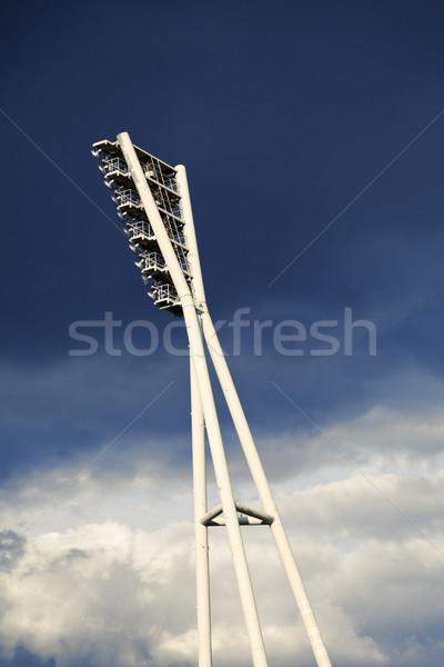 Stadium Lighting Tower and Cloudy Sky Stock photo © eldadcarin