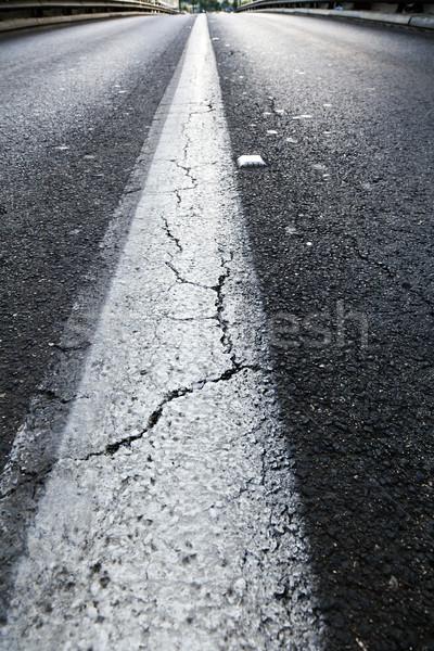 Vacant snelweg breed perspectief Stockfoto © eldadcarin