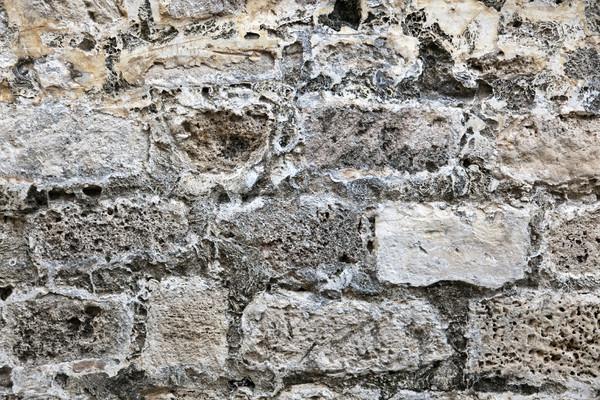 Starożytnych mur ściany rock żółty Zdjęcia stock © eldadcarin