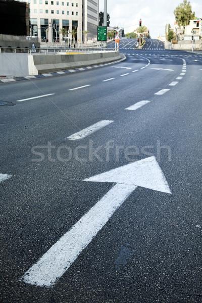 Rua principal vazio cedo carro estrada Foto stock © eldadcarin