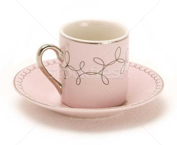 Isolado café expresso copo prato preto decorações Foto stock © eldadcarin