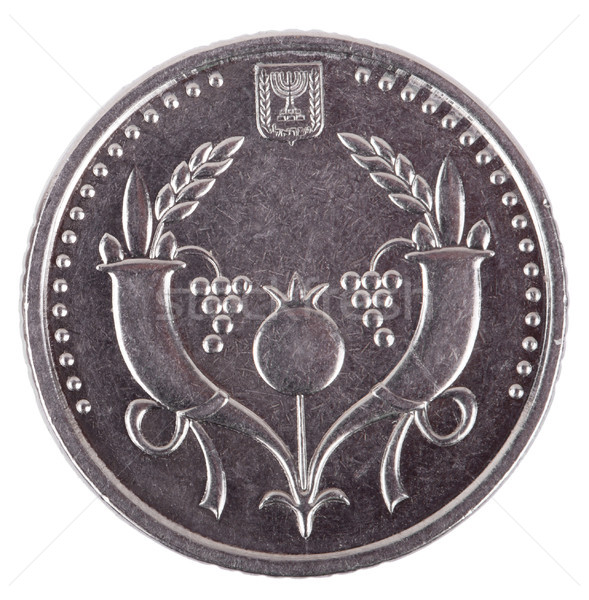 Isolated 2 Shekels - Heads Frontal Stock photo © eldadcarin