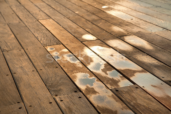 Wet Wooden Deck Stock photo © eldadcarin