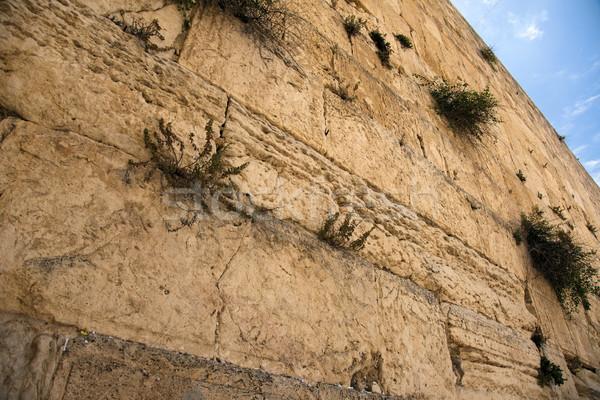Fal egy szent emberek öreg város Stock fotó © eldadcarin