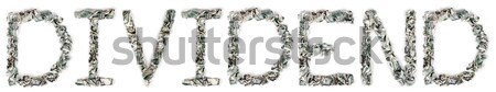 Rekening 100 woord uit geïsoleerd Stockfoto © eldadcarin