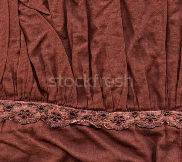 хлопка ткань текстуры коричневый украшения высокий Сток-фото © eldadcarin