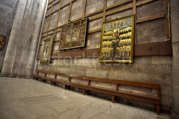 Holy Sepulchre Basilica Bench Stock photo © eldadcarin