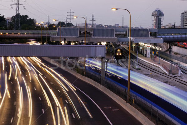 Traffico Israele 2011 sera ora di punta Foto d'archivio © eldadcarin